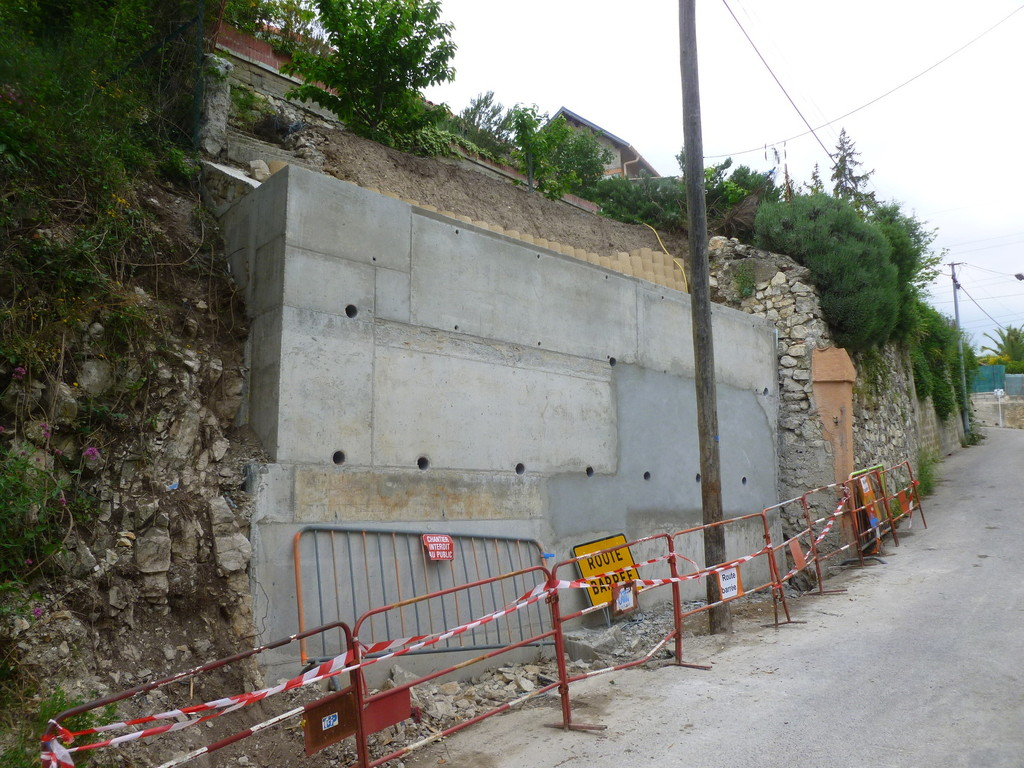 Reprise mur suite effondrement