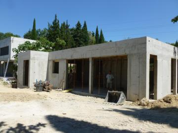 Construction d'une villa contemporaine